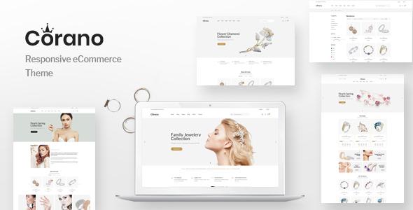 Corano - Jewellery OpenCart Theme (Page Builder Layouts)        TFx Brock Zarathustra