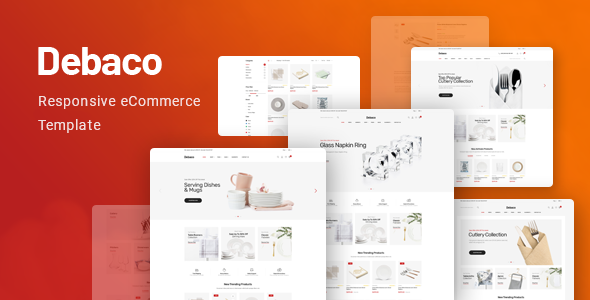 Debaco - eCommerce Bootstrap 4 Template        TFx Mack Norman
