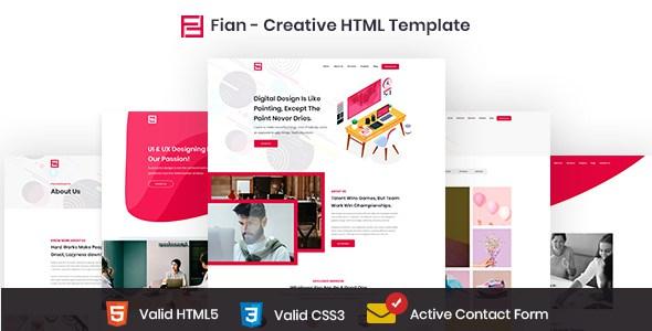 Fian - Creative HTML5 Template        TFx Nate Bridger