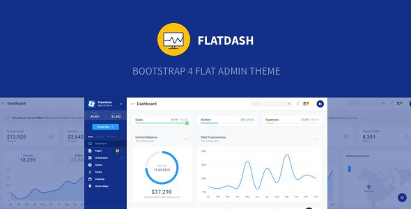 FlatDash - Bootstrap 4 Flat Admin Theme        TFx Neville Westley