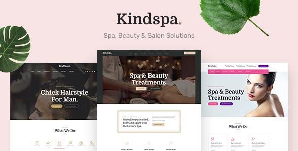 Kindspa - Spa and  Beauty Salon HTML5 Template        TFx Bradford Delmar