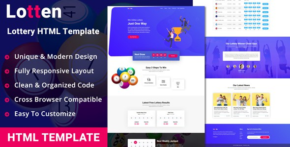 Lotten - Lottery HTML Template        TFx Brant Chas