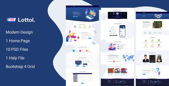 Lottol - Online Lotto PSD Template        TFx Kelcey Rolland
