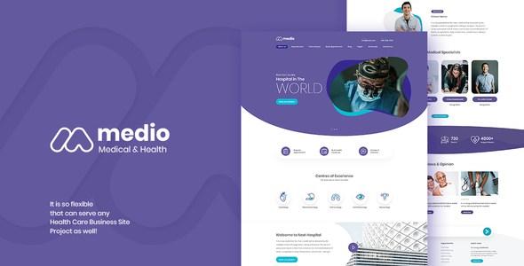 Medio - Medical Organization WordPress Theme        TFx Bradford Jordan
