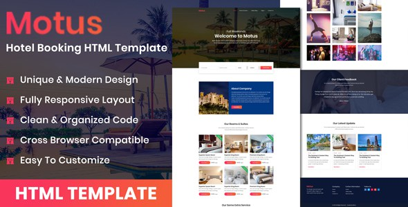 Motus - Hotel Booking HTML Template        TFx Clay Holden
