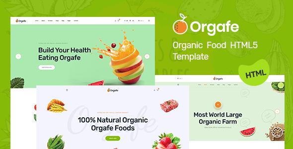 Orgafe - Organic Food HTML5 Template        TFx Yorick Gaylord