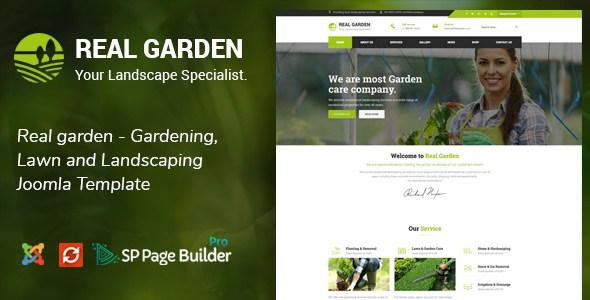 Real Garden - Gardening, Lawn and Landscaping Joomla Theme        TFx Bob Nobuyuki