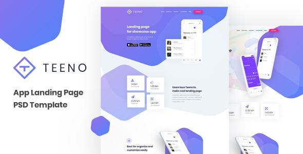 Teeno - App Landing Page        TFx Dominick Davit