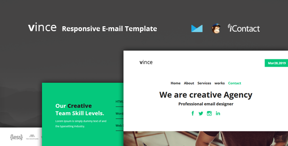 Vince Mail - Responsive E-mail Template        TFx Duncan Livy
