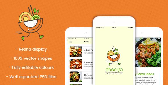 dhaniya - Mobile App PSD        TFx Edwin Waman
