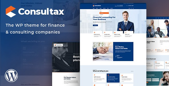 Consultax - Financial & Consulting WordPress Theme        TFx Flannery Winthrop