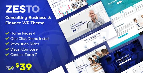 Zesto - Agency Corporate WordPress Theme        TFx Reed Naiche
