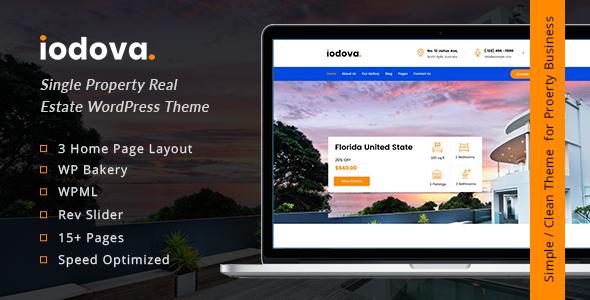 Iodova - Single Property Real Estate WordPress Theme        TFx Warner Al