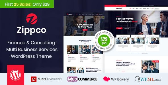 Zippco - Business and Finance Consulting WordPress Theme        TFx Innocent Rhett