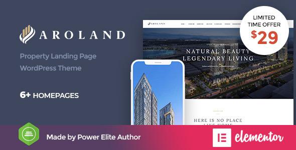 Aroland - Single Property Landing Page WordPress Theme        TFx Zhirayr Clinton