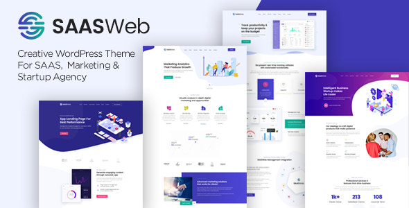 Saasweb - SaaS Startup WordPress Theme        TFx Erick Bobbie