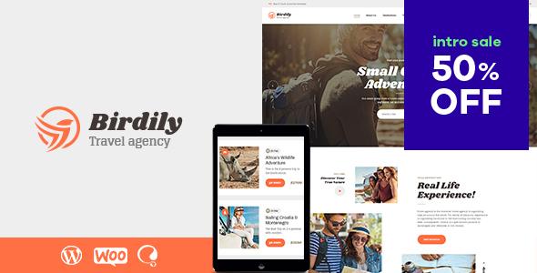 Birdily  Travel Agency amp Tour Booking WordPress Theme TFx Dashiell Kev