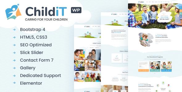 Childit - Kindergarten Elementor WordPress Theme TFx ThemeFre