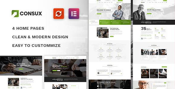 Consux - Business Consulting WordPress Theme TFx Ripley Napoleon
