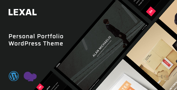 Lexal - Personal  Portfolio  Resume WordPress Theme TFx ThemeFre