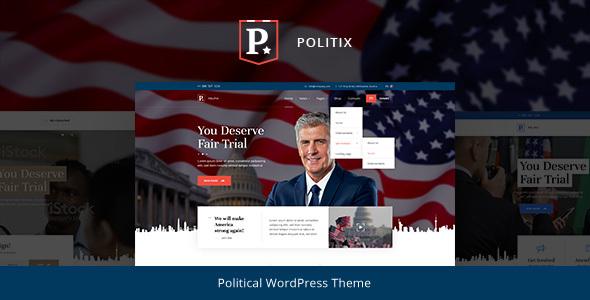 Politix - Political Campaign WordPress Theme TFx Jerrold Royston