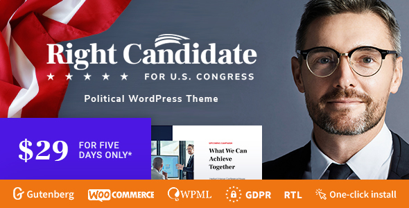 Right Candidate - Election Campaign and Political WordPress Theme TFx Neely Ronald