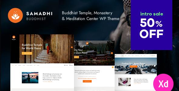 Samadhi  Oriental Buddhist Temple WordPress Theme TFx ThemeFre