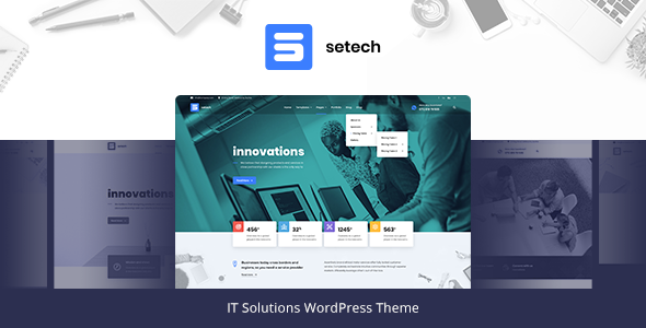 Setech - IT Services and Solutions WordPress Theme TFx Arif Evander