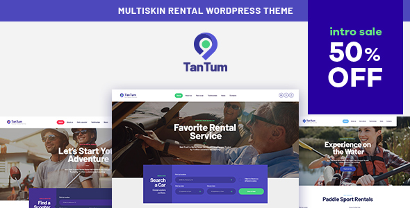 TanTum  Car amp Scooter Rental Services WordPress Theme TFx Willoughby Dusty