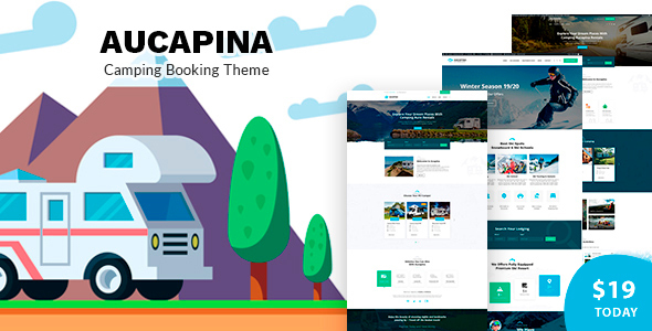 Aucapina - Camping Auto Booking TFx WordPress ThemeFre