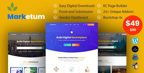 Marketum - Digital Product WordPress Theme TFx ThemeFre