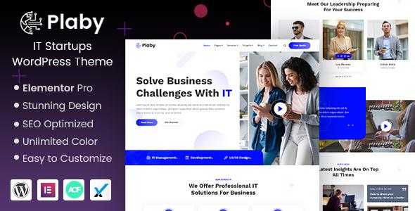 Plaby - IT Startup WordPress Theme TFx WordPress ThemeFre