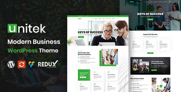 Unitek - Business WordPress Theme TFx WordPress ThemeFre