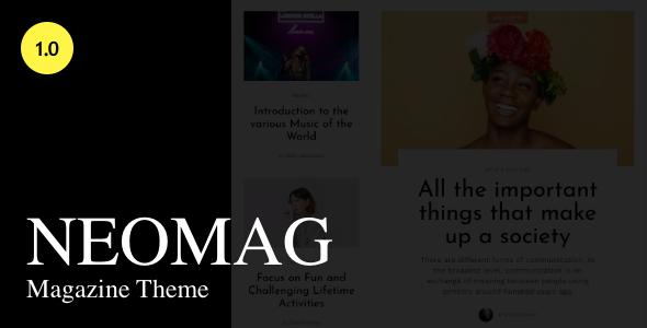 NeoMag - News and Magazine WordPress Theme TFx ThemeFre