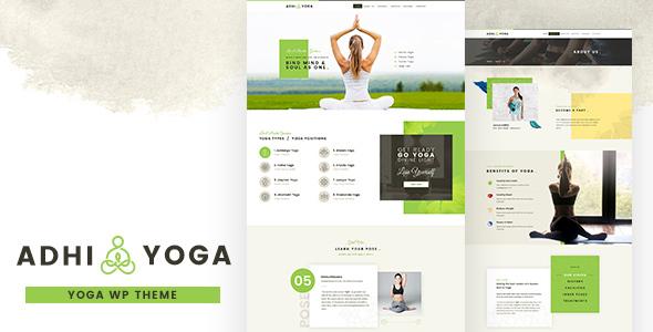 Adhi Yoga  Meditation and Yoga WordPress Theme TFx ThemeFre