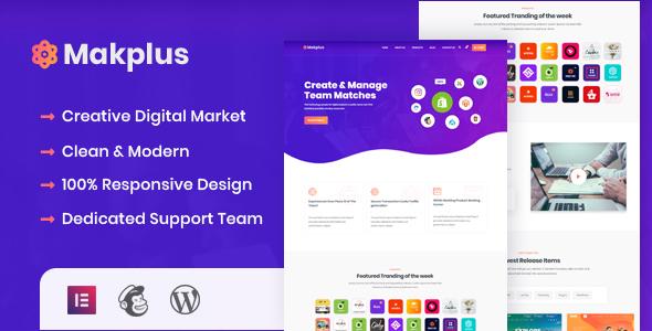 Makplus - Digital Marketplace WordPress Theme TFx ThemeFre
