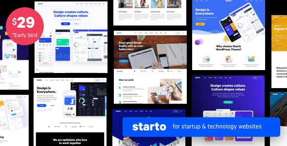 Starto  Saas Software Startup WordPress TFx ThemeFre