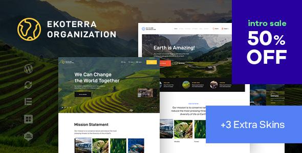 Ekoterra - NonProfit amp Ecology WordPress Theme TFx ThemeFre