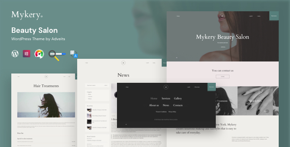 Mykery - Beauty Salon WordPress Theme TFx ThemeFre