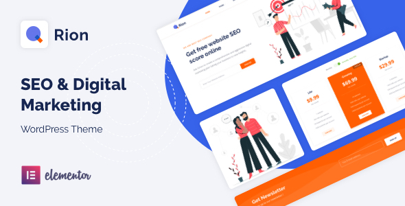 Qrion - SEO amp Digital Marketing WordPress Theme TFx ThemeFre