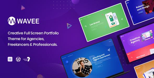 Wavee - Fullscreen Portfolio WordPress Theme TFx ThemeFre