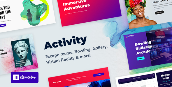 Activity - Booking WordPress Theme TFx WordPress ThemeFre