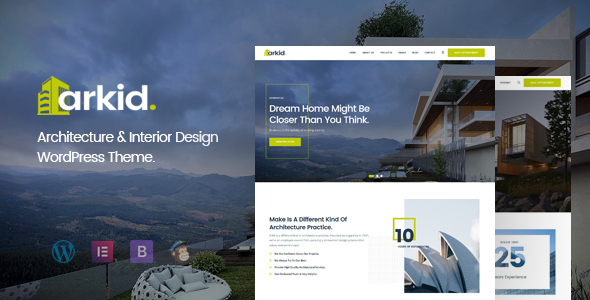 Arkid - Architecture and Interior Design WordPress Theme TFx ThemeFre