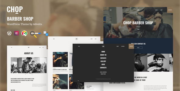 Chop - Barber Shop WordPress Theme TFx WordPress ThemeFre