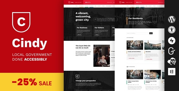 Cindy - Accessible Local Government WordPress Theme TFx ThemeFre