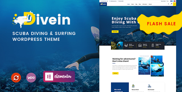 Divein - Scuba Diving amp Surfing WordPress Theme TFx ThemeFre