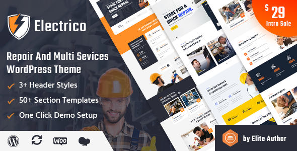 Electrico - Repair and Multi Services WordPress Theme TFx ThemeFre