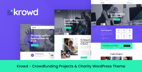 Krowd - Crowdfunding amp Charity WordPress Theme TFx ThemeFre