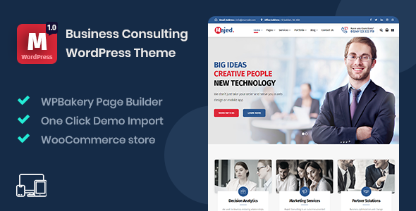 Majed - Business Consulting WordPress Theme TFx ThemeFre