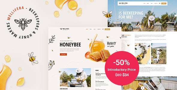 Mellifera - Beekeeping and Honey Shop Theme TFx ThemeFre